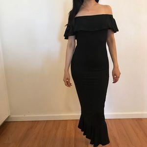 Dresses - •RESTOCKED• Penelope Off The Shoulder Ruffle Dress
